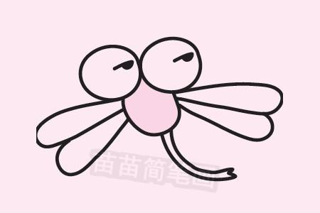 蜻蜓简笔画分步骤教程 图片大全