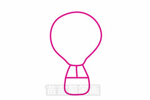 热气球简笔画大图