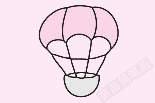 热气球简笔画图片大全作品一