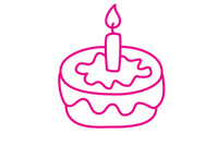 生日蛋糕简笔画图片大全、教程