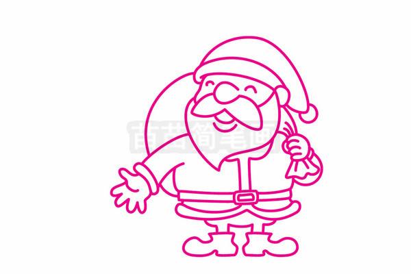 圣诞老人简笔画图片步骤五