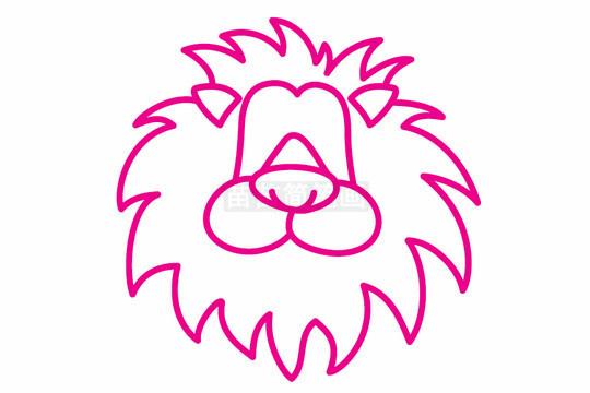 狮子简笔画图片步骤二