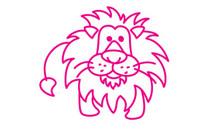狮子简笔画图片大全、教程