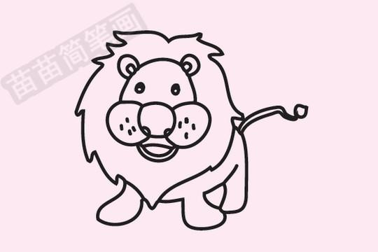 狮子简笔画图片大全作品四