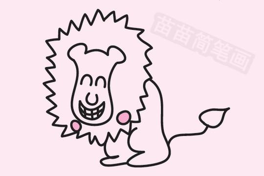 狮子简笔画图片大全作品五