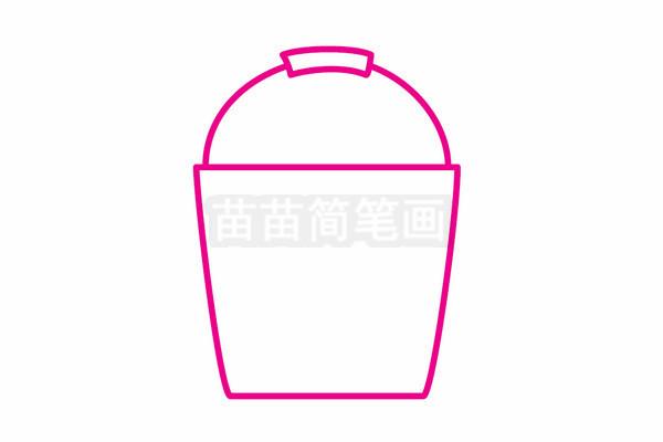 水桶简笔画图片步骤二