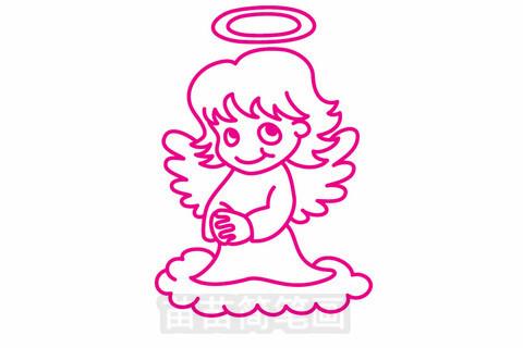 天使简笔画大图