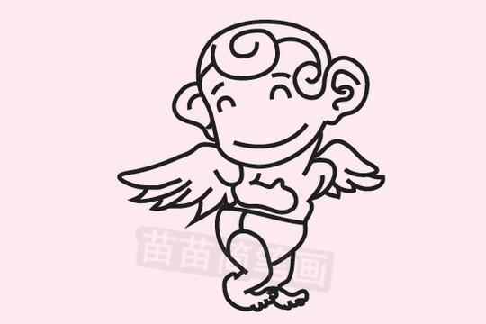 天使简笔画图片大全作品二