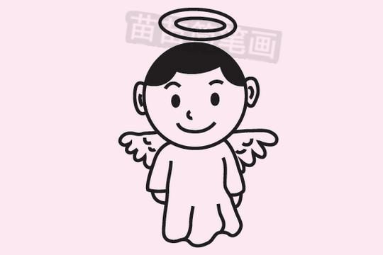 天使简笔画图片大全作品三