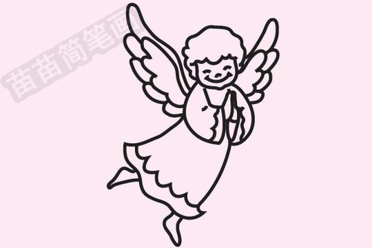 天使简笔画图片大全,教程