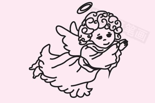 天使简笔画图片大全作品五