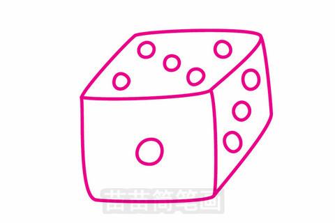 骰子平面图怎么画