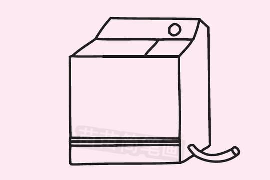 洗衣机简笔画图片大全作品二