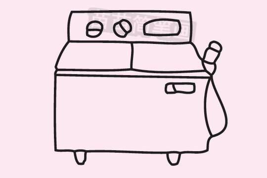 洗衣机简笔画图片大全作品三