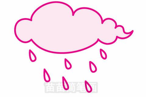 下雨简笔画大图