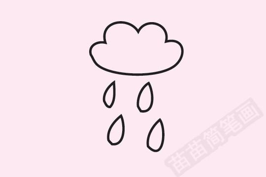 下雨简笔画图片大全作品一