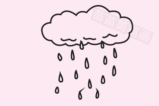 下雨简笔画图片大全作品五