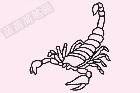 蝎子简笔画图片大全 教程