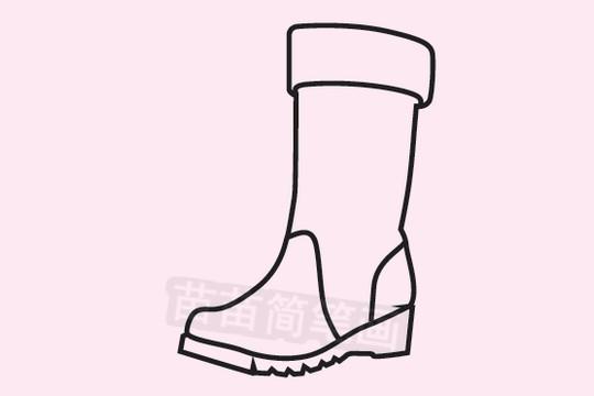 靴子简笔画图片大全 画法