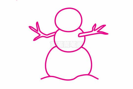 雪人简笔画图片步骤二