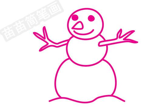 雪人简笔画图片步骤三
