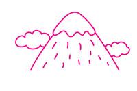 雪山简笔画图片大全、教程