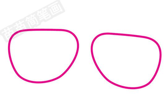 眼镜简笔画图片步骤一
