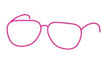 眼镜简笔画图片大全、画法