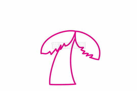 椰树简笔画图片步骤二