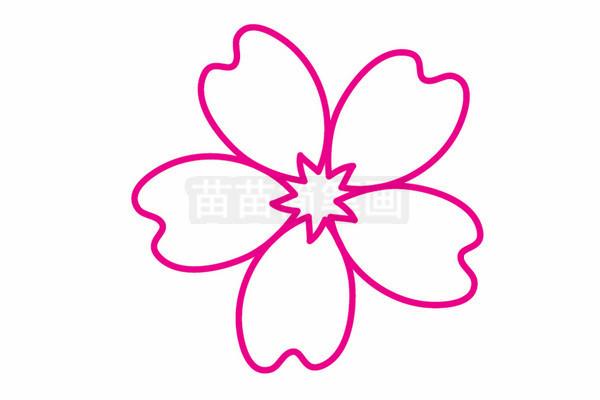 樱花简笔画图片步骤二