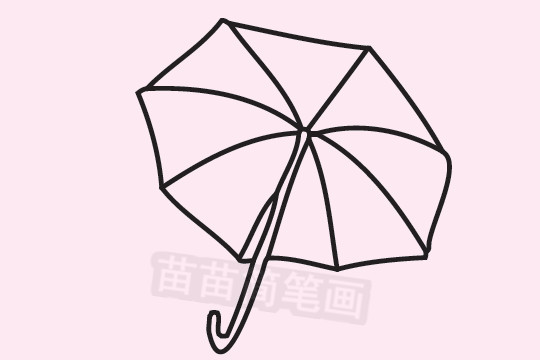 雨伞简笔画图片大全作品二