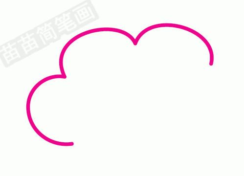 云朵简笔画图片步骤一