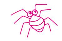 蜘蛛简笔画图片大全、教程