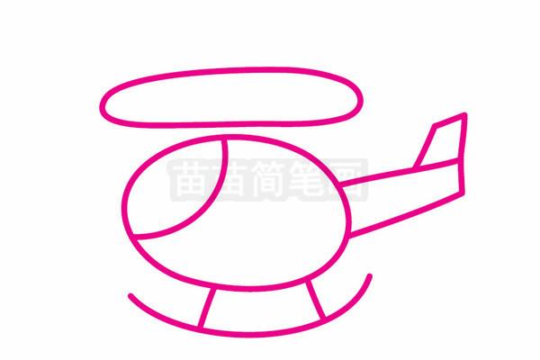直升机简笔画图片步骤三