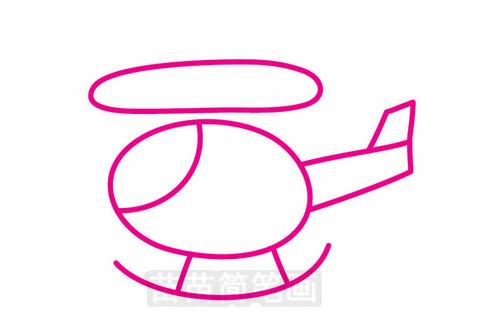 直升机简笔画大图