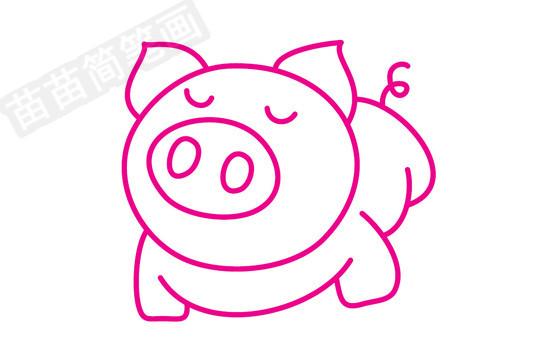 小猪简笔画图片大全 教程