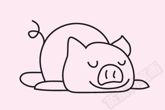 小猪简笔画图片大全作品一