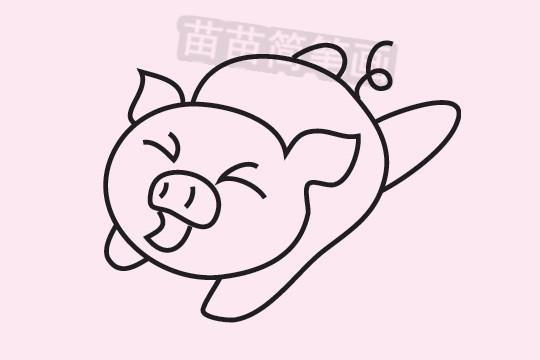 小猪简笔画图片大全作品三