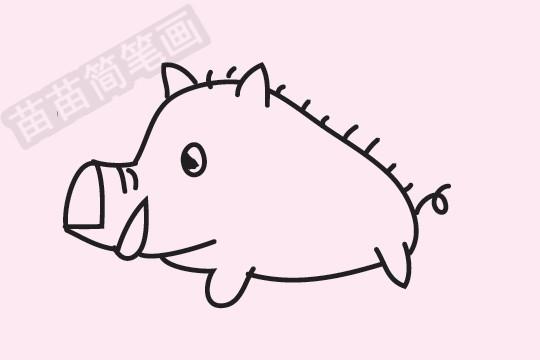小猪简笔画图片大全作品四