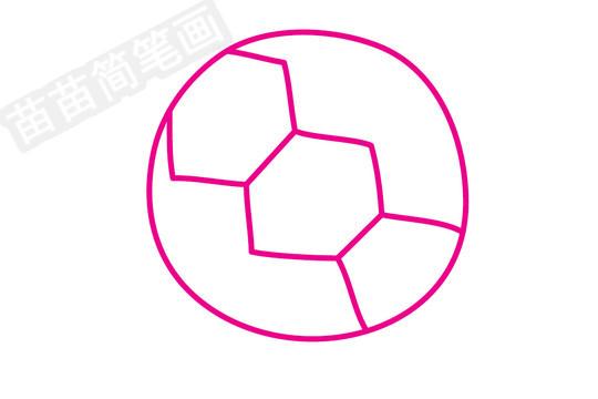 足球简笔画图片步骤四