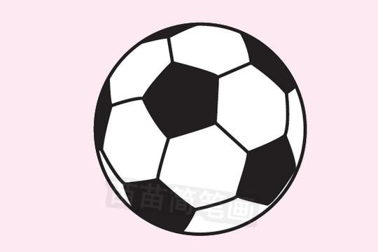 足球简笔画图片大全作品二