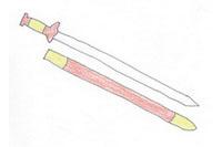 宝剑简笔画简单画法