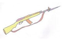 步枪简笔画简单画法