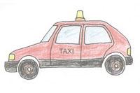 出租车简笔画简单画法