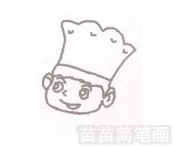 厨师简笔画简单画法
