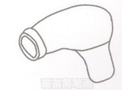 吹风机简笔画图片步骤一