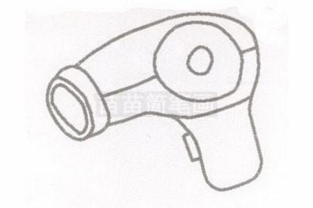 吹风机简笔画图片步骤二