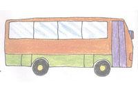 大客车简笔画简单画法