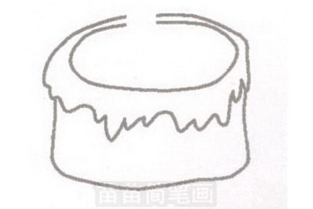 蛋糕简笔画图片步骤一