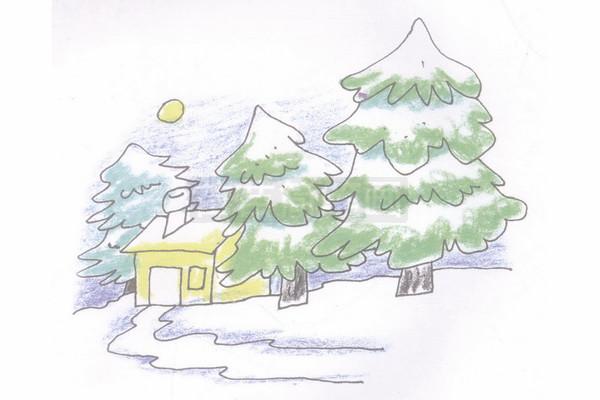 冬天的画_冬天简笔画简单画法